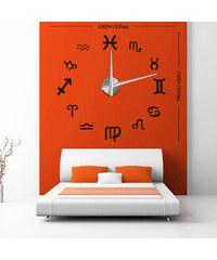 3D Nalepovací nástěnné hodiny - 12S010