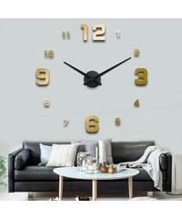 3D Nalepovací nástěnné hodiny - 12S005-G