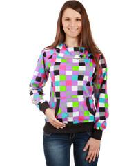 TopMode Zajímavá barevná mikina fialová