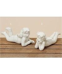 Porcelánový ležící anděl White Styl 1