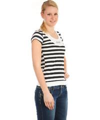 TopMode Moderní pruhované tričko bílá