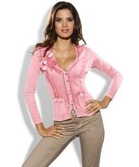 Ostatní Dámský růžový bavlněný kardigan Zucchero, Velikost 40, Barva růžová