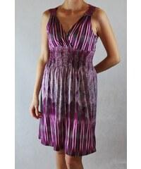 LM moda A Nádherné vzorované letní šaty fialové s krajkou LL190C 6f66ae24bb