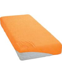 Froté prostěradlo Světle Oranžové BedTex Rozměr: 180x200 cm