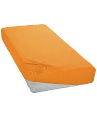 Jersey prostěradlo Světle Oranžové BedTex Rozměr: 180x200 cm