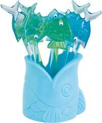ZAK! designs - Crazy eyes ryba napichovátka, 8ks set - modrá/zelená, 9,5 cm (1100-9765)