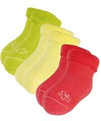 maximo Baby - Mädchen Socken Vollfrotteesocken, mit Motiv, 3er Pack, Einfarbig