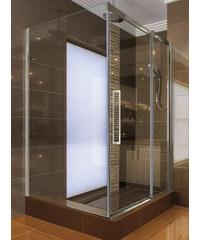 Aquatek ADMIRAL R33 Chrom Luxusní sprchová zástěna obdélníková 120x90cm, sklo 8mm