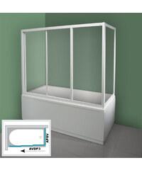 Ravak APSV-70 TRANSPARENT Pevná stěna vanová 70 cm bílá