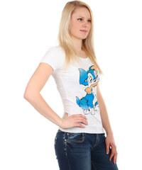 TopMode Příjemné tričko s roztomilým obrázkem bílá