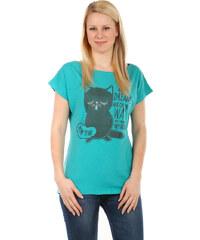 TopMode Moderní tričko s potiskem zelenomodrá