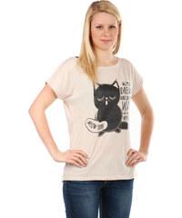 TopMode Moderní tričko s potiskem béžová