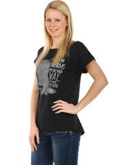 TopMode Moderní tričko s potiskem černá