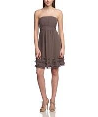 ESPRIT Collection Damen Trägerloses Kleid Fließender Chiffon 034EO1E002