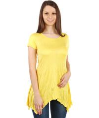 TopMode Pohodlné tričko s krátkým rukávem žlutá