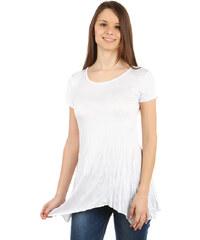 TopMode Pohodlné tričko s krátkým rukávem bílá