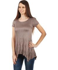 TopMode Pohodlné tričko s krátkým rukávem světle hnědá