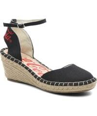Coca-cola shoes - Juta City - Sandalen für Damen / schwarz