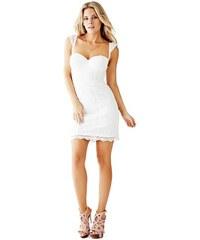 Guess Šaty Sleeveless Crochet Bustier Dress