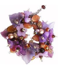 Myšové náramek Lilacs in Amber