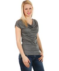 TopMode Krásné elegantní tričko tmavě šedá