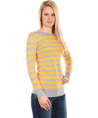 TopMode Barevné pruhované tričko oranžová