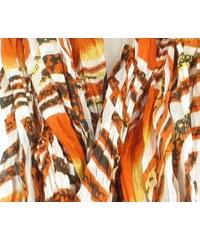 Article de Paris (AP) Krásná dámská šála, šátek, sarong, pareo oranžová