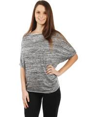 TopMode Žíhané tričko lichotící postavě světle šedá