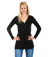 TopMode Krásný jednoduchý svetr na knoflíky černá