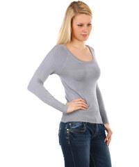 TopMode Jednoduchý svetřík v krásných barvách šedá