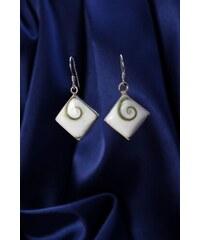 Stříbrné náušnice s perletí NB003