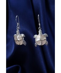 Stříbrné náušnice s perletí NB009