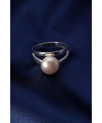 Stříbrný prsten s perlou PP007
