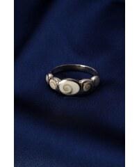 Stříbrný prsten s perletí PB012