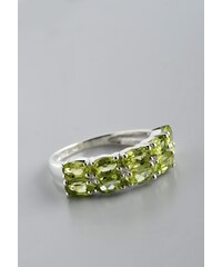 Stříbrný prsten s olivíny PK045