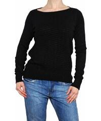 VesTem Dámský krátký černý svetr se vzorem