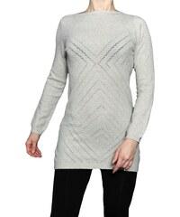 VesTem Dámská pletená běžová tunika se vzorem Wendy Trendy