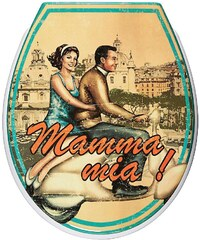 ADOB WC-Sitz »Mamma Mia!«, Mit Absenkautomatik
