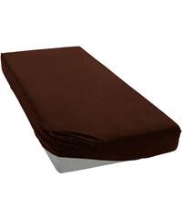 Polášek Jersey prostěradlo tmavě hnědé Rozměr: 60x120 cm