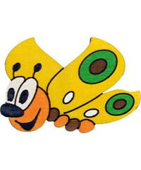 DoDo Dekorace s magnetem a lepíkem Motýl žlutý DM8 10x7cm