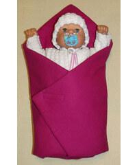 SDS Rychlozavinovačka pro panenky Sytě růžová bavlna 60x60 cm