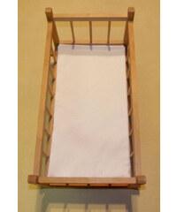 SDS Matrace do postýlky pro panenky bílá bavlna 50/28 cm