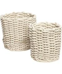 Bavlněný košík White Cotton Větší