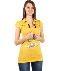 TopMode Moderní bolerko s krátkým rukávem žlutá