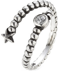 Pamela Love Gamma Sterling Silver Ring with White Topaz
