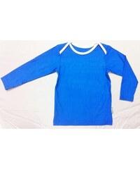 Bambusové tričko - dětské bambusové tričko (modré s bílou)