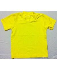 Bambusové tričko - dětské bambusové tričko s krátkým rukávem (žlutá)
