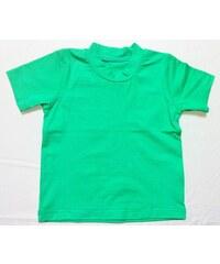 Bambusové tričko - dětské bambusové tričko s krátkým rukávem (zelená)