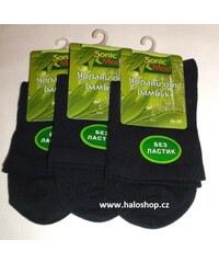 Diabetické bambusové ponožky (černá)