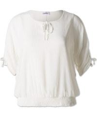 C&A Damen Krepp-Bluse in cremefarben von Canda